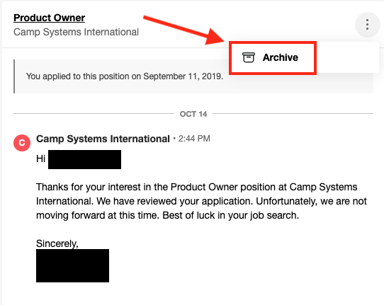 How To Archive Messages In Indeed Messaging Indeed Job Seeker Success